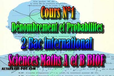 Cours N°1 Dénombrement et Probabilites, sciences ...