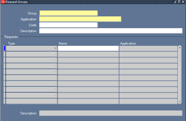 Request Group screen in oracle apps
