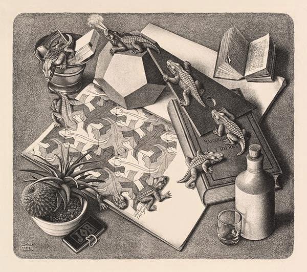 Répteis - Escher, M. C. e suas geniais litogravuras