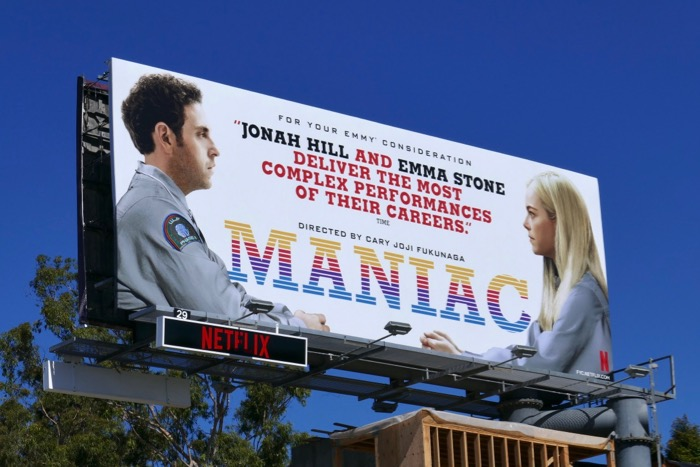 Maniac Emmy consideration billboard