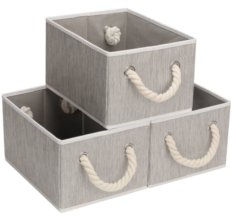 Storage Bins with Rope Handles