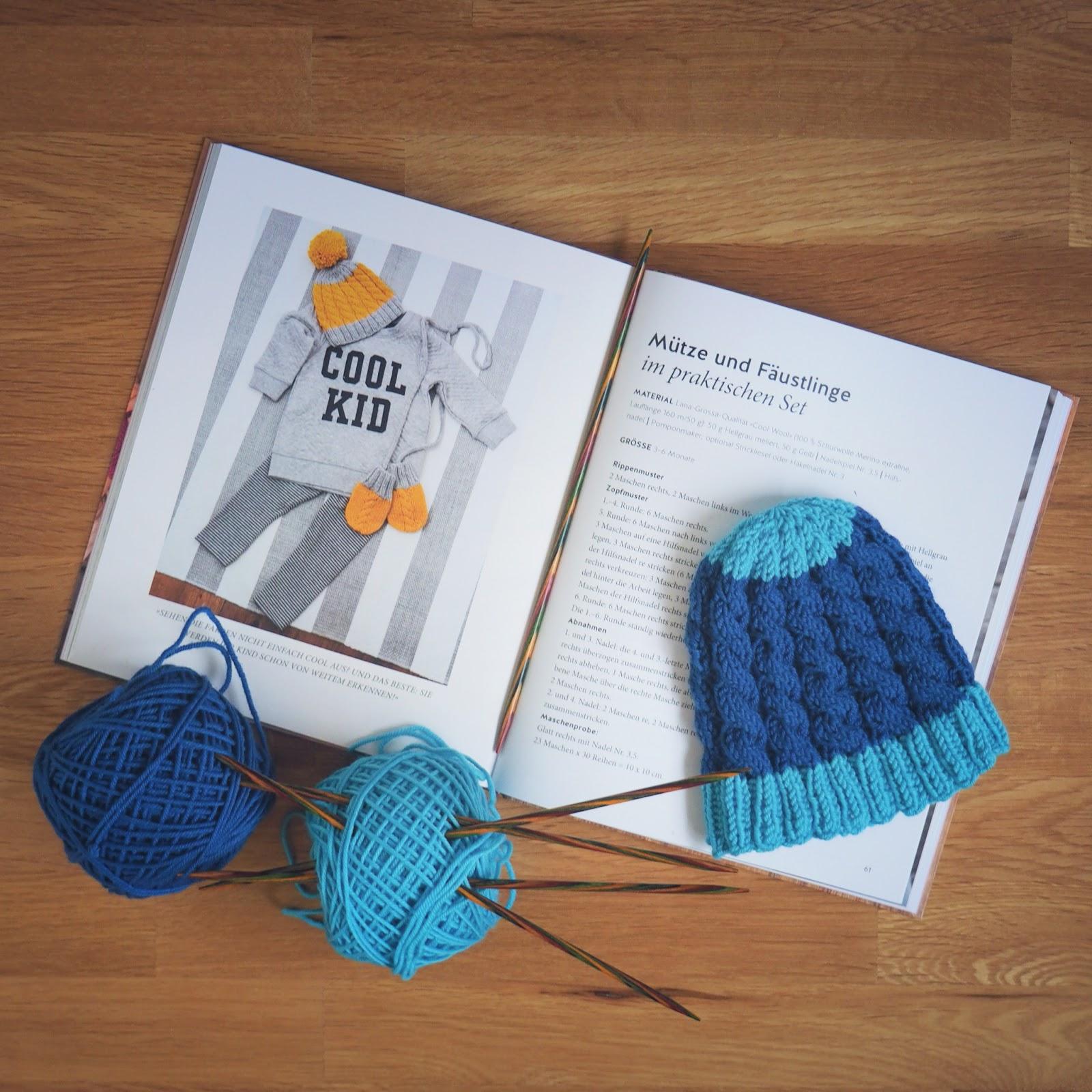 Gestrickte Zopfmütze aus Magdalena Neuners Strickbuch für Babys