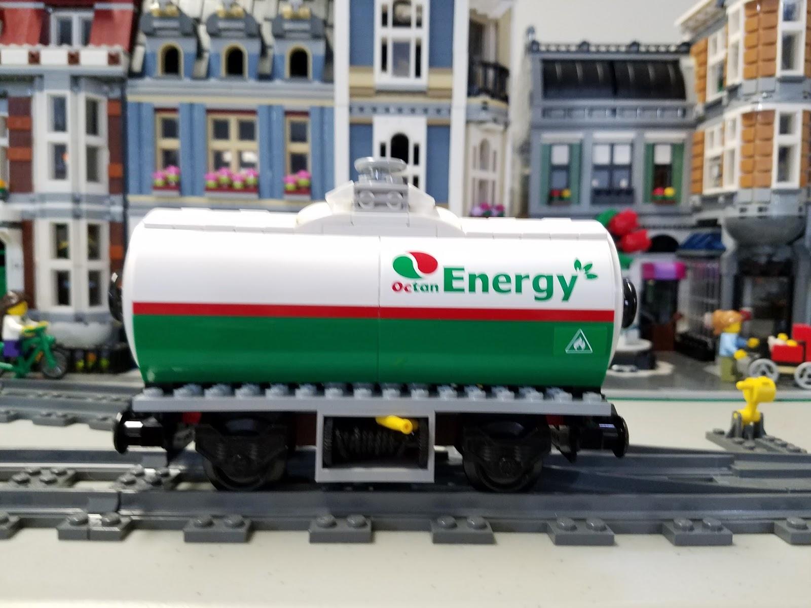 Playing with Bricks: More Custom LEGO: Custom Train Car #2 (Octan