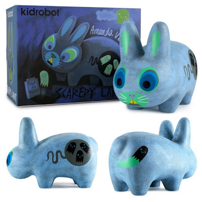 Kidrobot Exclusive Light Blue Scaredy Labbit by Amanda Visell