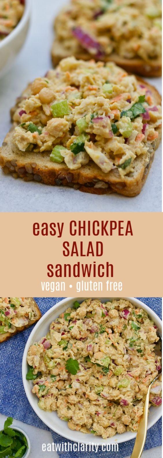 Mashed Chickpea Tuna Salad