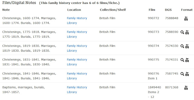 FamilySearch Catalog search results for microfilm 990773