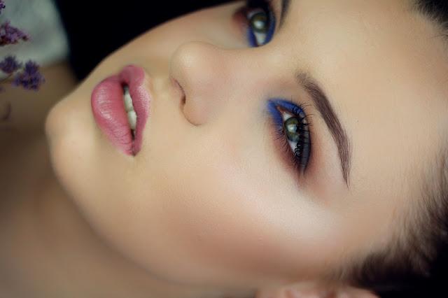 makijaż chabrowy