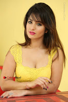 Cute Telugu Actress Shunaya Solanki High Definition Spicy Pos in Yellow Top and Skirt  0610.JPG