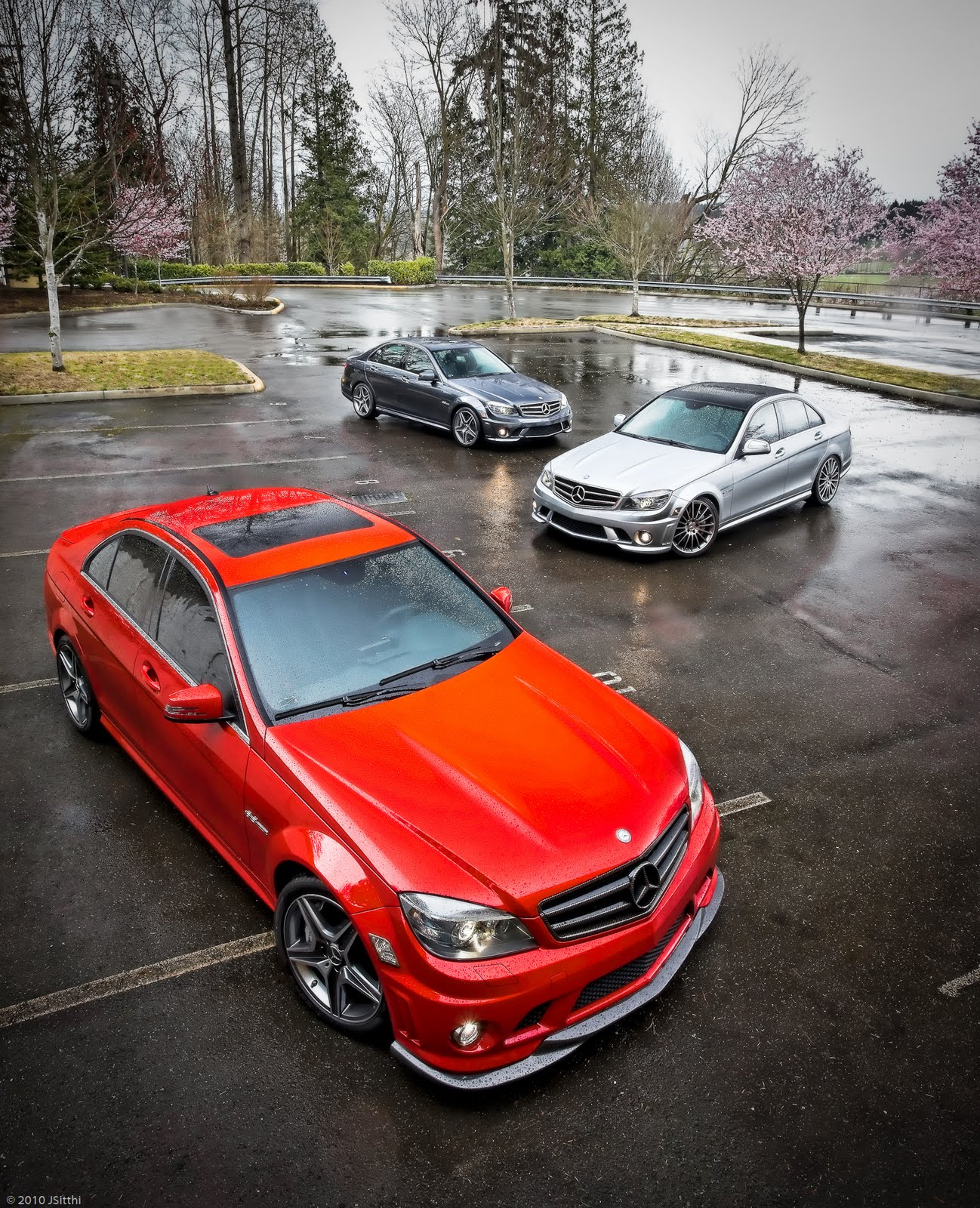 Mercedes-Benz C63 AMG W204 RED
