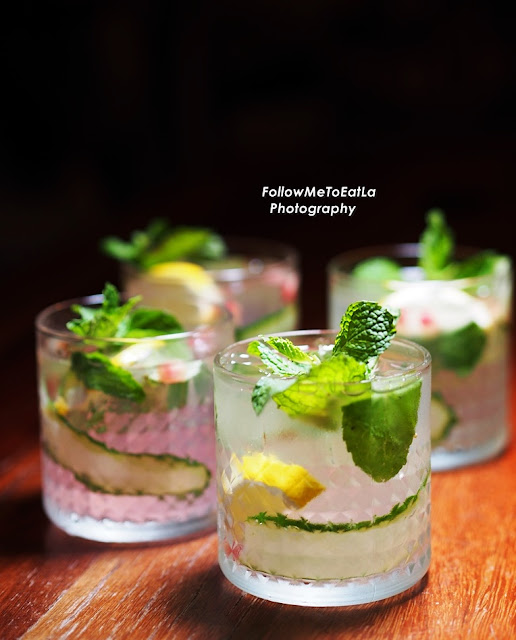Boss Favourite – Best Item ~ Hendricks, Cucumber Ribbon, Lemon, Mint & Juicy Pomegranate Seeds