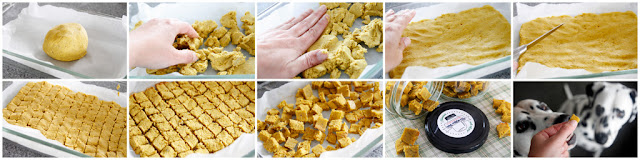 Making small homemade dog training treats without rolling or cutting, step-by-step how to make