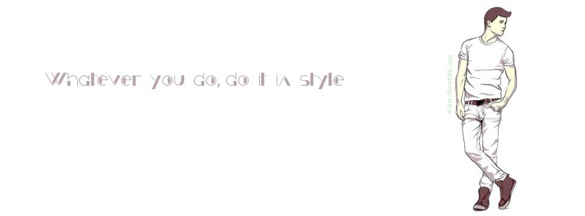 Whatever You do, do it style - facebook cover pic for boys is one of the coolest timeline banner photo for boys and their FB accounts plus other Social Profiles Boy waiting with luggages facebook cover