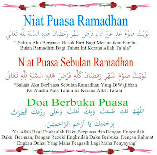 niat puasa ramadhan 1 bulan penuh
