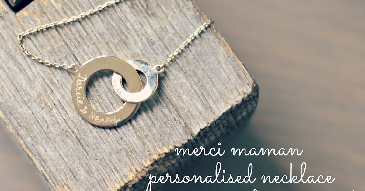 Merci Maman Personalised Necklace K Elizabeth