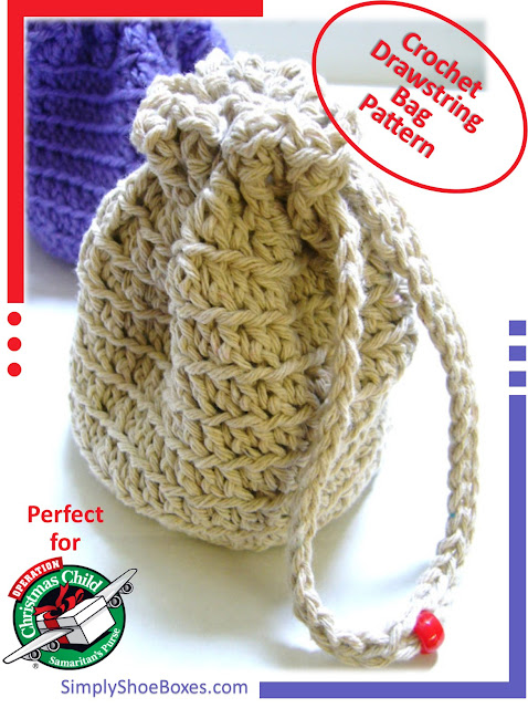 Free Crochet Patterns Drawstring Bags : Simply Shoe Boxes: Simple Lined Drawstring Bag Pattern and ...
