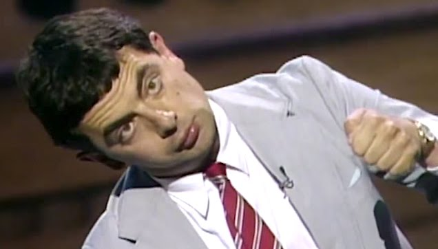 Rowan Atkinson in 1989 Just for Laughs festival in Montreal