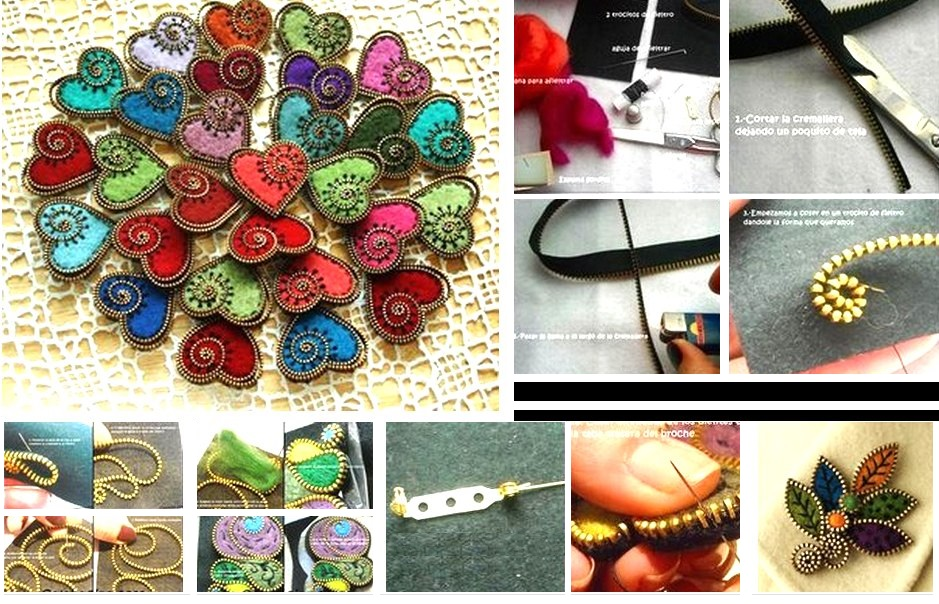 cremalleras diys, transformar, customizar, bisuteria, reciclar