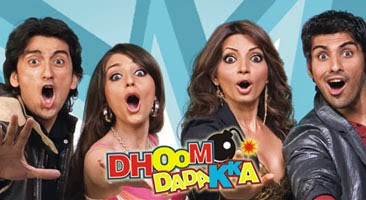 Poster Of Bollywood Movie Dhoom Dadakka (2008) 300MB Compressed Small Size Pc Movie Free Download worldfree4u.com