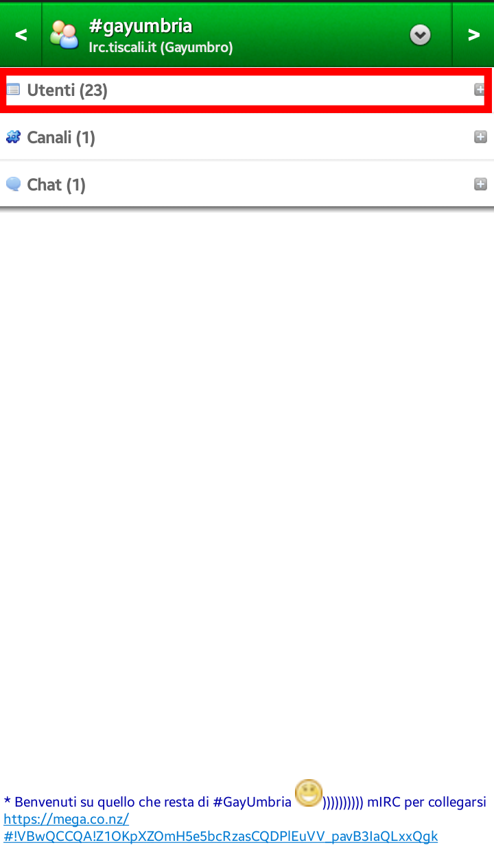 Chat irc tiscali android