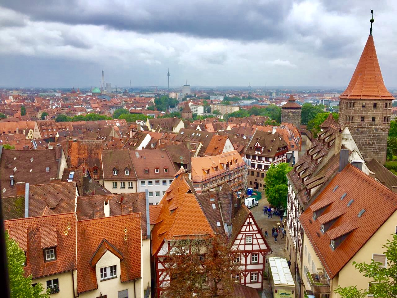 Nuremberg view from Nuremberg Castle