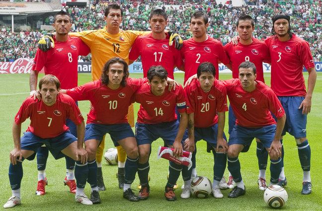 Formación de Chile ante México, amistoso disputado el 16 de mayo de 2010