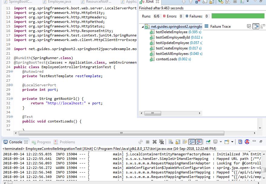 Spring Boot 2 CRUD REST APIs Integration Testing