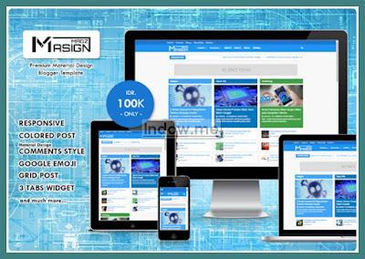 template blog premium, masign magz premium, masign magz, magazine
