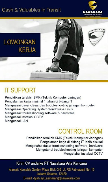 Lowongan Kerja PT. Nawakara Artha Kencana (Jakarta)