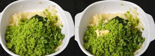 green peas cutlet/patties
