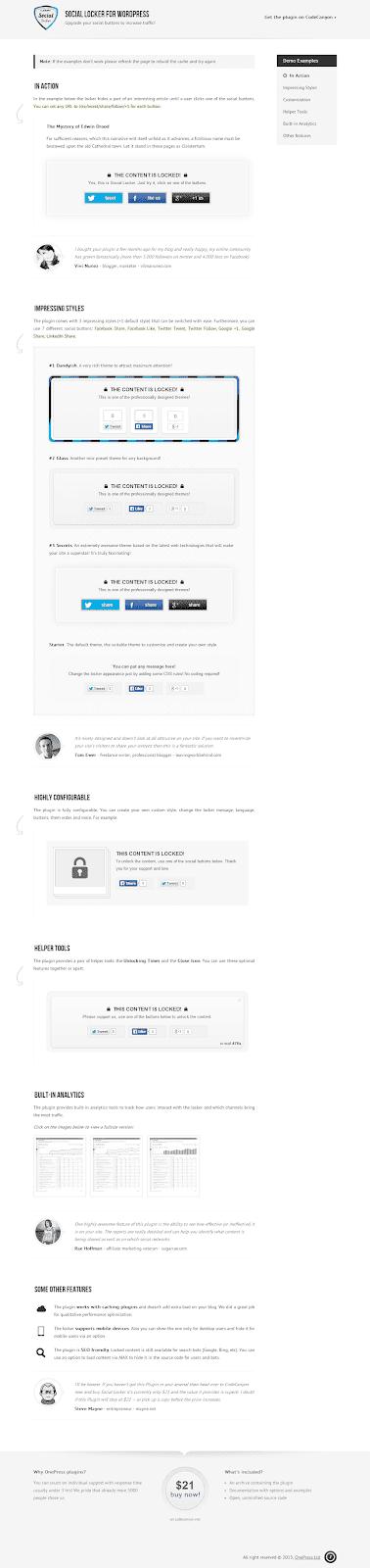 WP Social Locker 4.3.6 For  WordPress Plugin Extended License