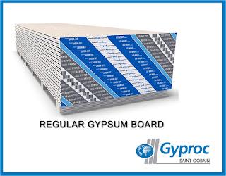 Gypsum ceiling material REGULAR GYPSUM BOARD-GYPROC