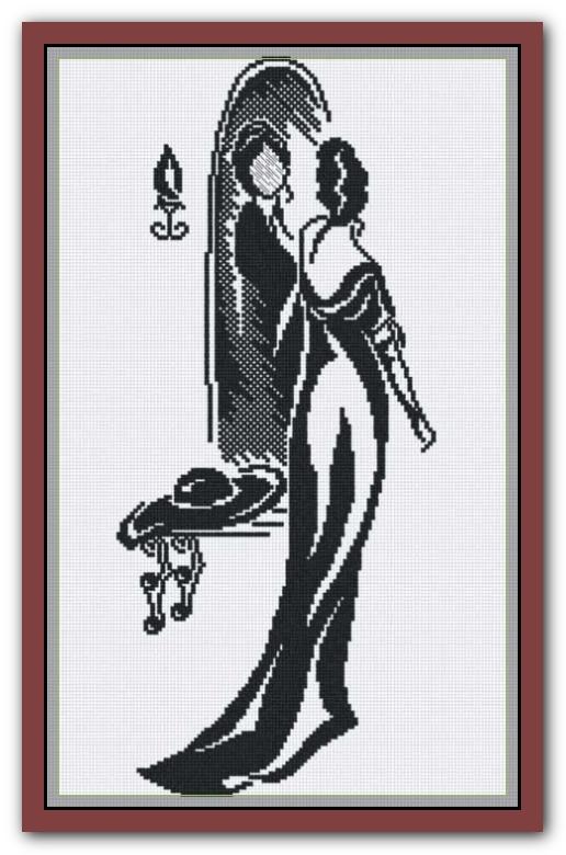 Схемы вышивки крестом с зеркалом