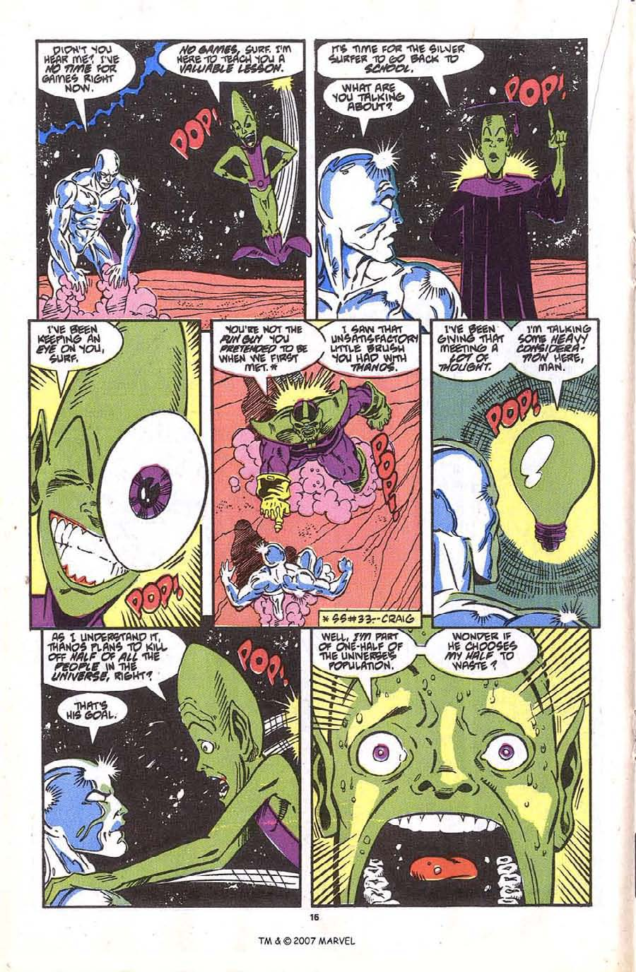 Read online Silver Surfer (1987) comic -  Issue #36 - 18
