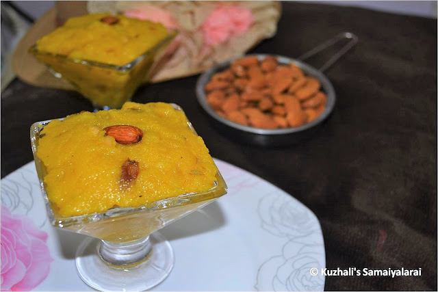 ALMOND MILK KESARI/  HOW TO MAKE MILK KESARI WITH BADAM