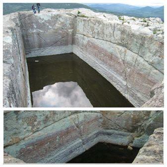 Cisternă tăiată în piatră la sanctuarul de la Perperikon