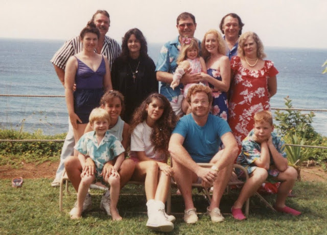 Family photo Princeville, Kauai 1990