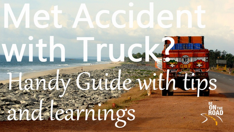 What do do when you have an accident with a truck