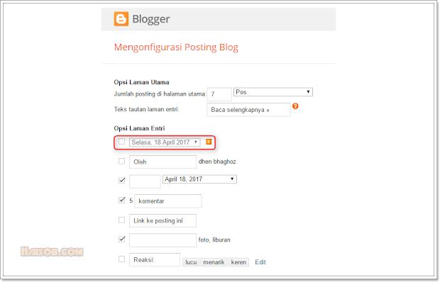 Cara menghilangkan tanggal posting artikel Blogger di penelusuran Google