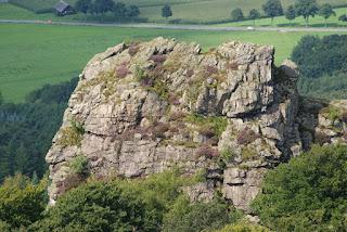 Blick vom Felsstein auf den Bornstein