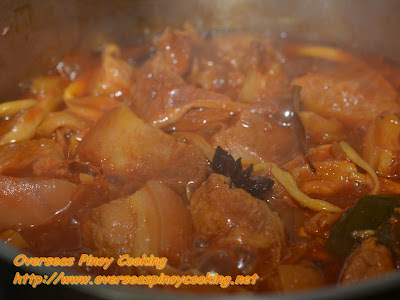 Pork Humba with Pineapple - Cooking Procedure