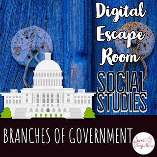 "Click to buy ""Digital Escape Room: Branches of Government""!"