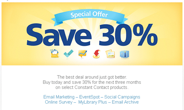 Off Constant Contact Email Marketing