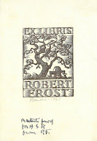 Robert Frost's bookplate
