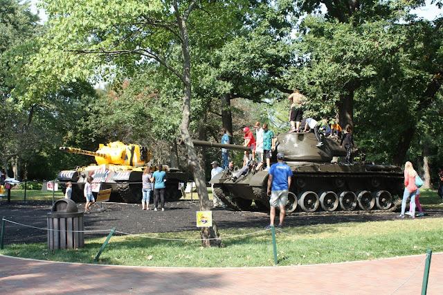 Tank garden at Cantigny Park