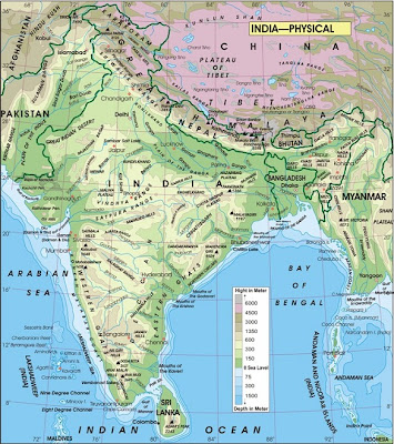 India Map Physical Features