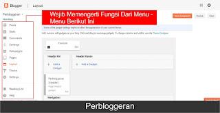 Penjelasan lengkap tentang menu - menu di Blogger