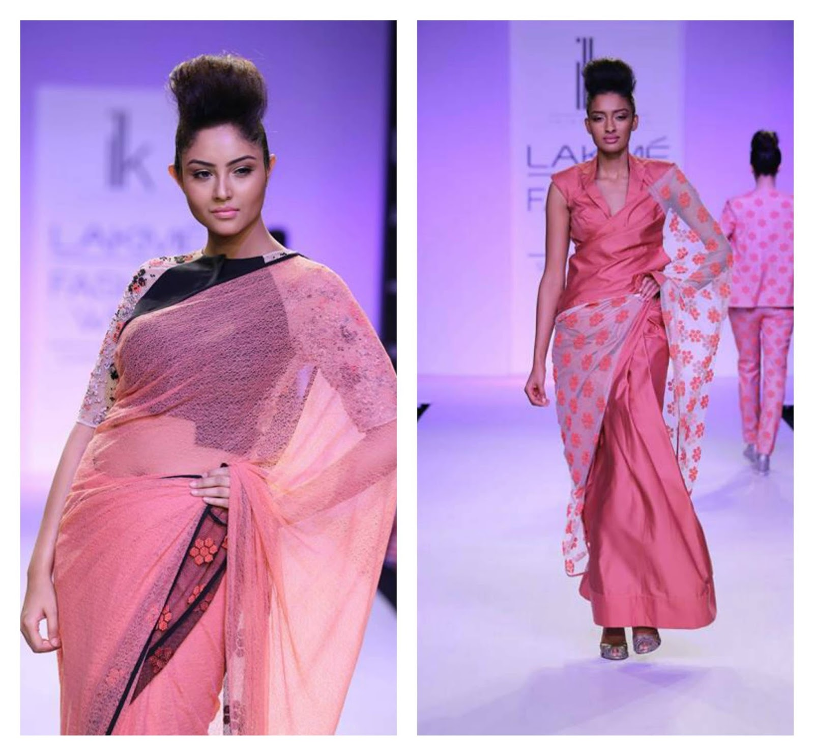 designer saree 2014 lakme fashion week\