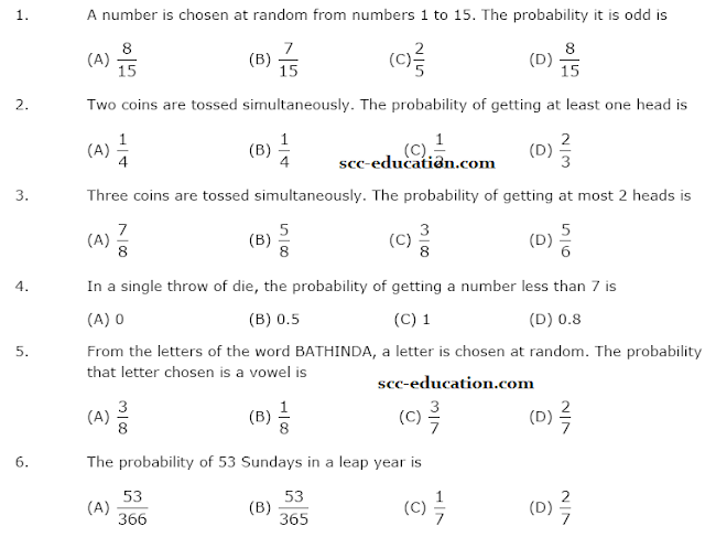 Probability mcq for polytechnic entrance,Quadratic equation mcq for polytechnic entrance test,important questions for entrance polytechnic,cet,