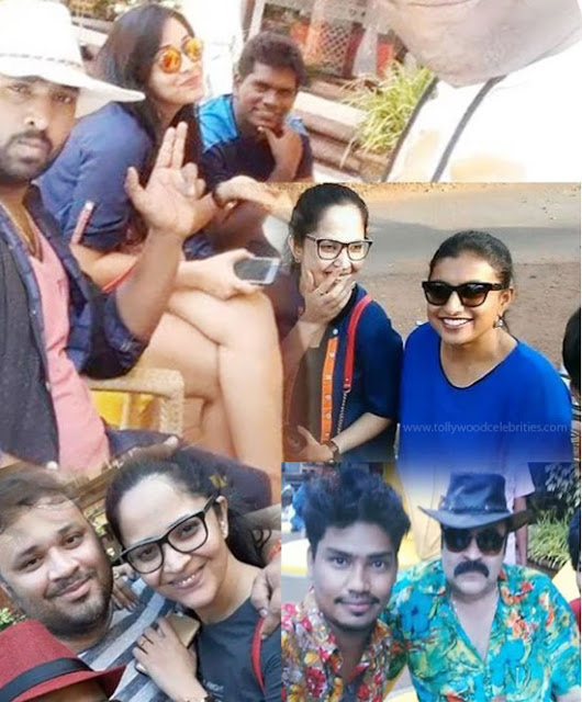 Jabardasth Team At Goa With Anasuya