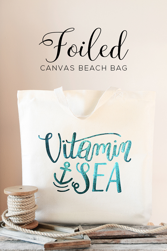 foiled canvas bag main header